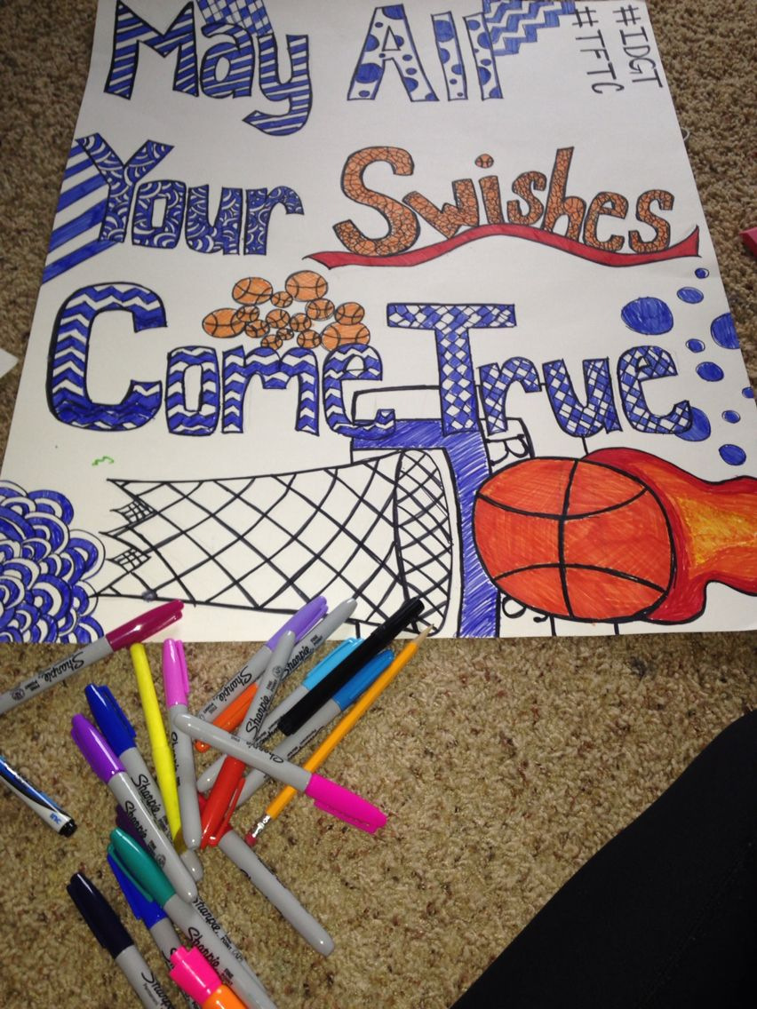 10 Gorgeous High School Basketball Poster Ideas basketball poster diy high school cheer stuuff schoo 2020
