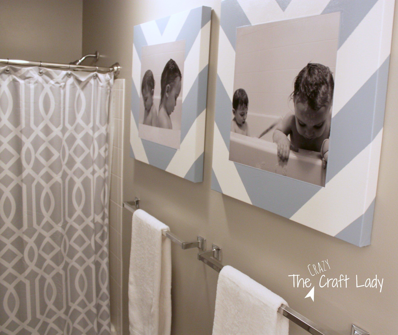 10 Fantastic Diy Canvas Wall Art Ideas bath time photos and diy canvas prints the crazy craft lady 2020