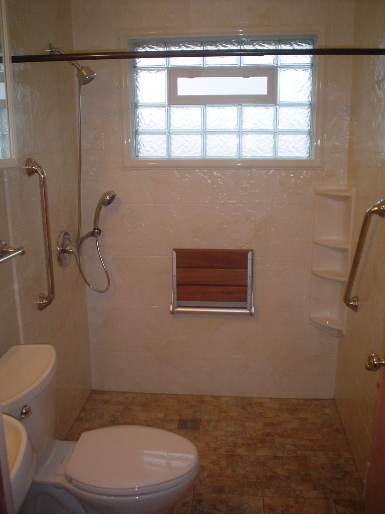 bath to shower conversions with glass blocks, curved glass, shower