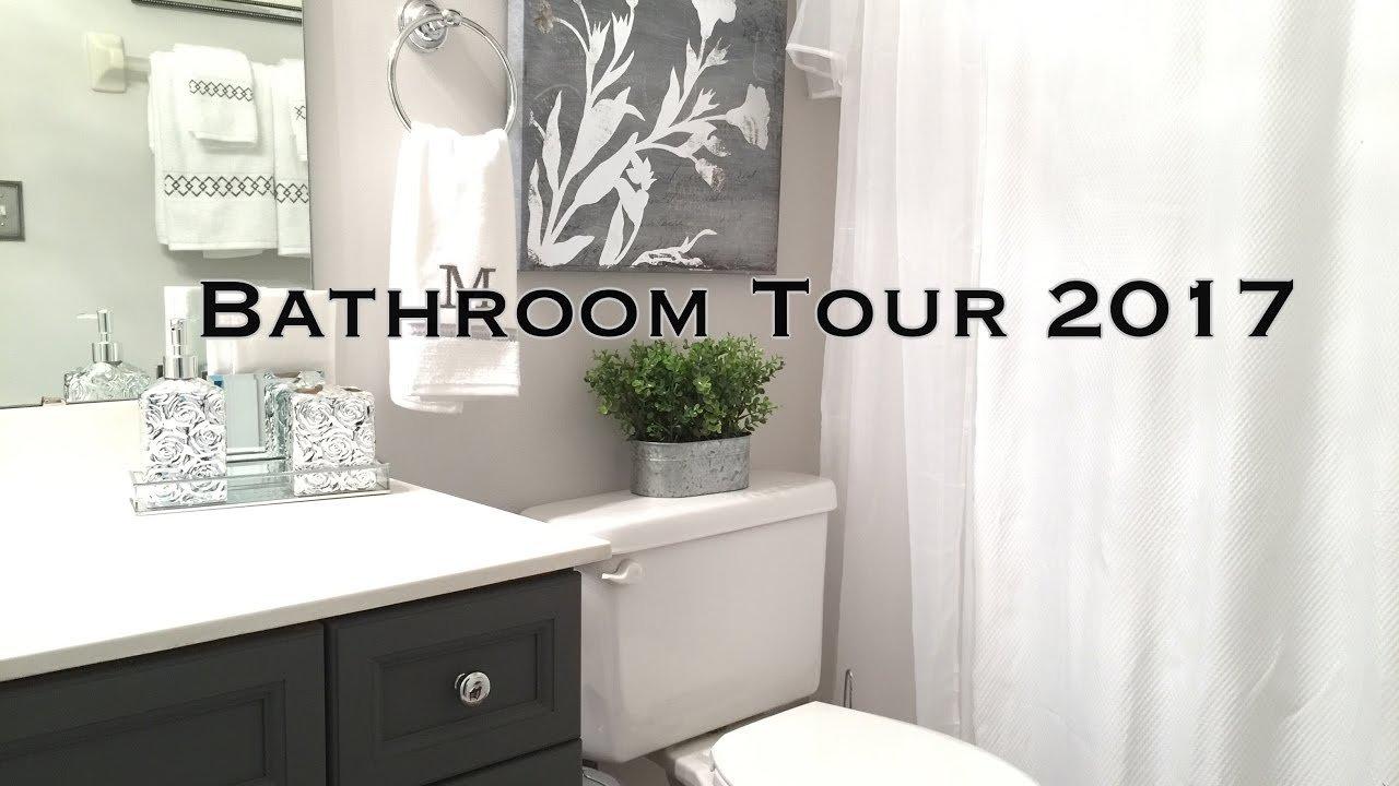 10 Cute Bathroom Decor Ideas On A Budget bathroom decorating ideas tour on a budget youtube 1 2020