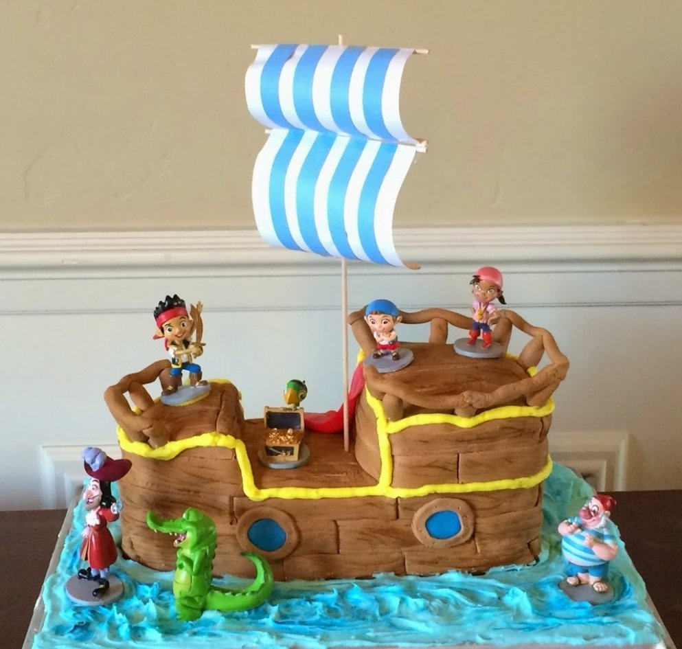 10 Lovable Jake And The Neverland Pirates Cake Ideas bathroom jake and the neverland pirates birthday cake pirate 2021