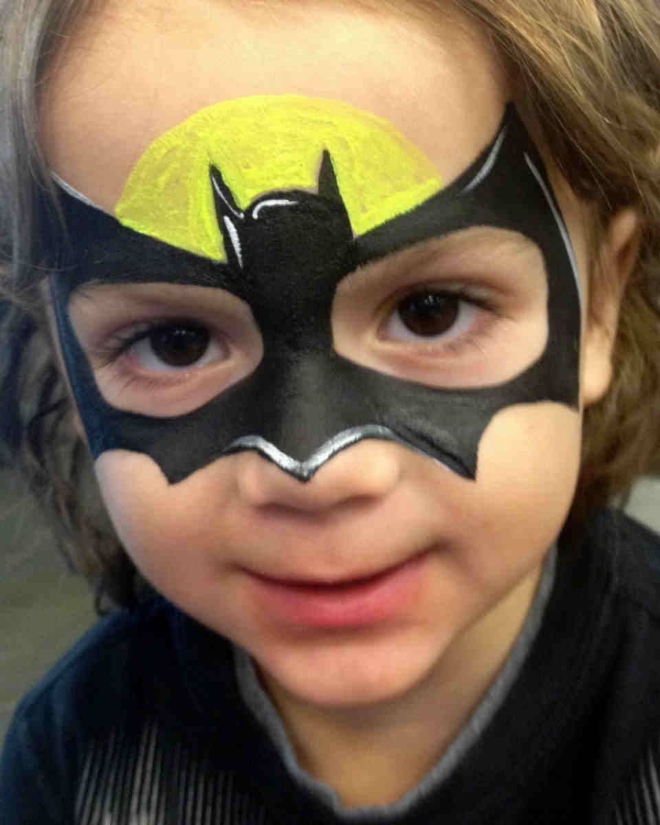 10 Attractive Face Painting Ideas For Boys batman face painting superhero face painting ideas boy designs