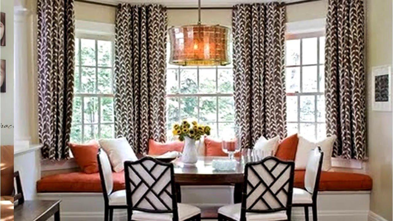 bay window curtain rod ideas - youtube