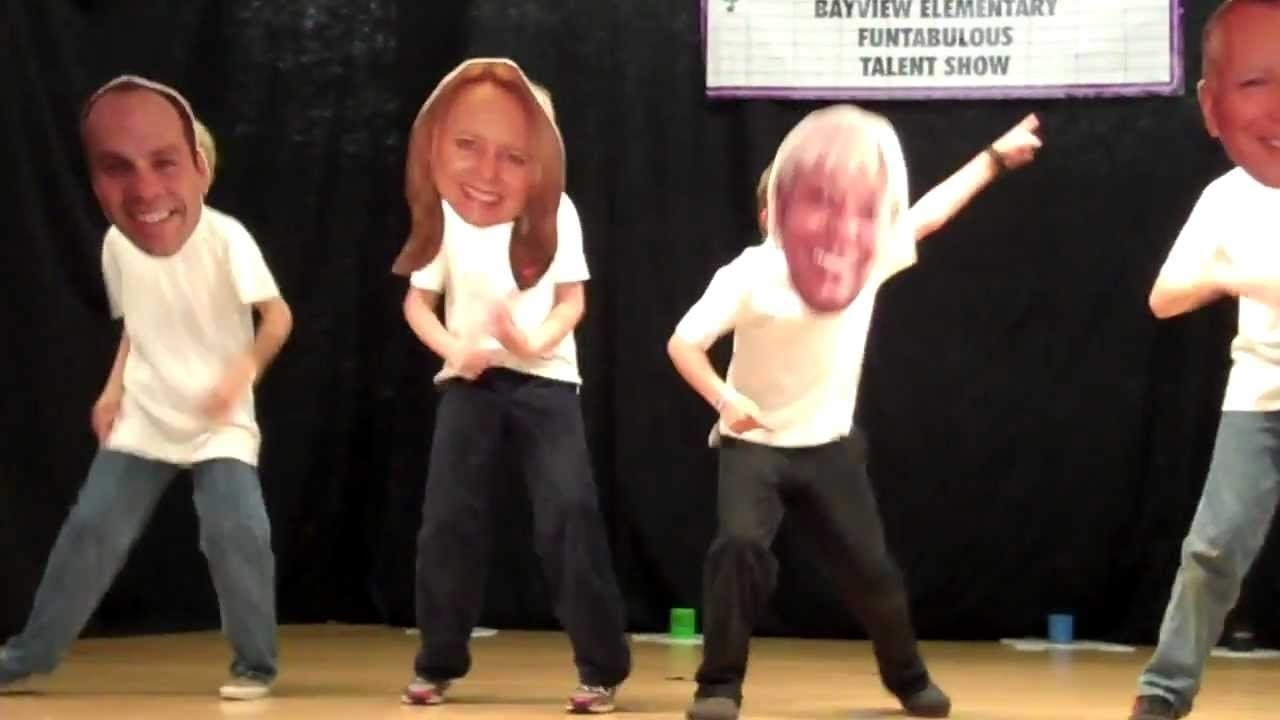 bayview elementary school talent show - dancing bobble heads - youtube