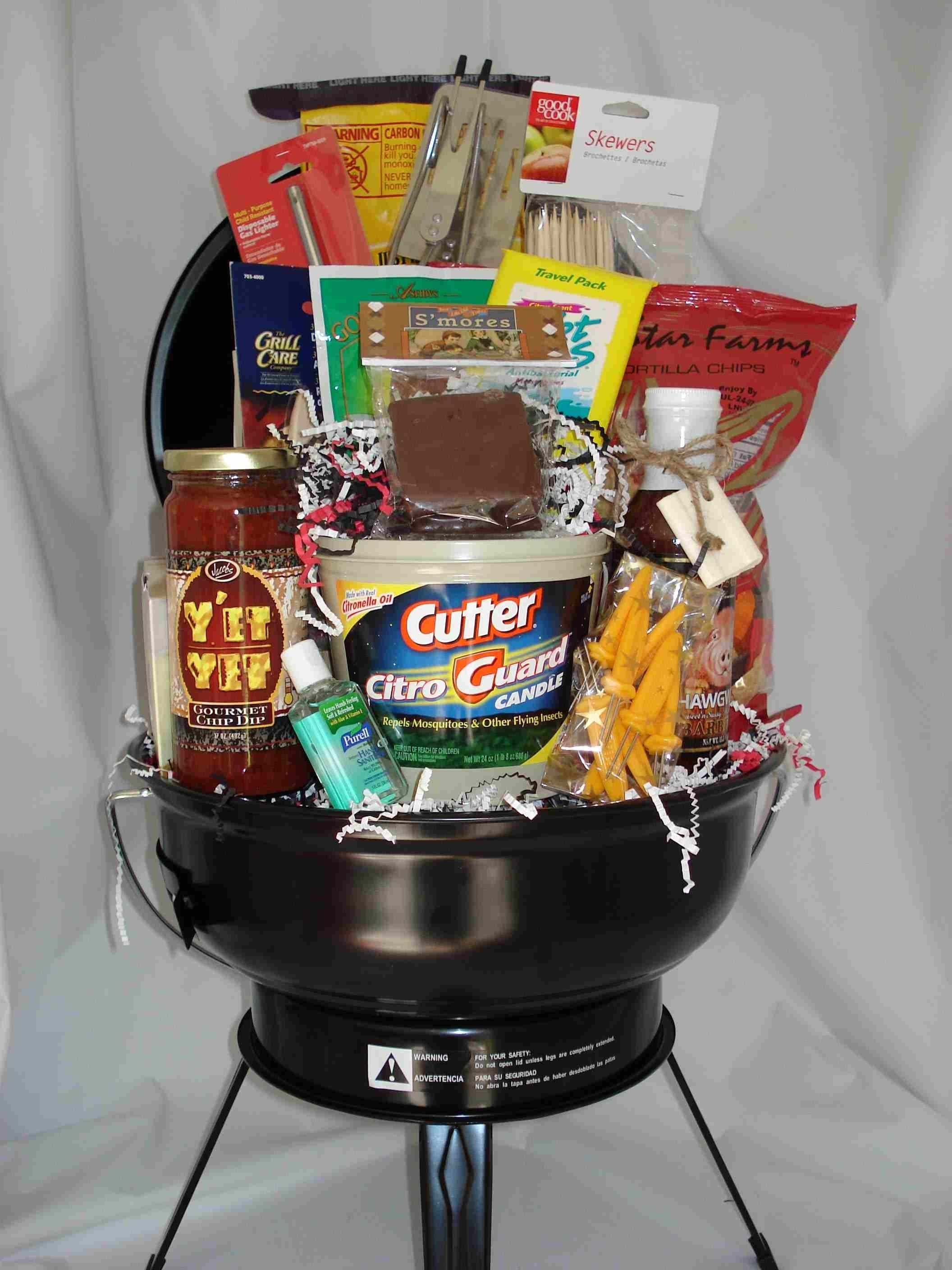 10 Cute Silent Auction Gift Basket Ideas bbq basket for new homeowners gifts newhomeowners housewarming 2020