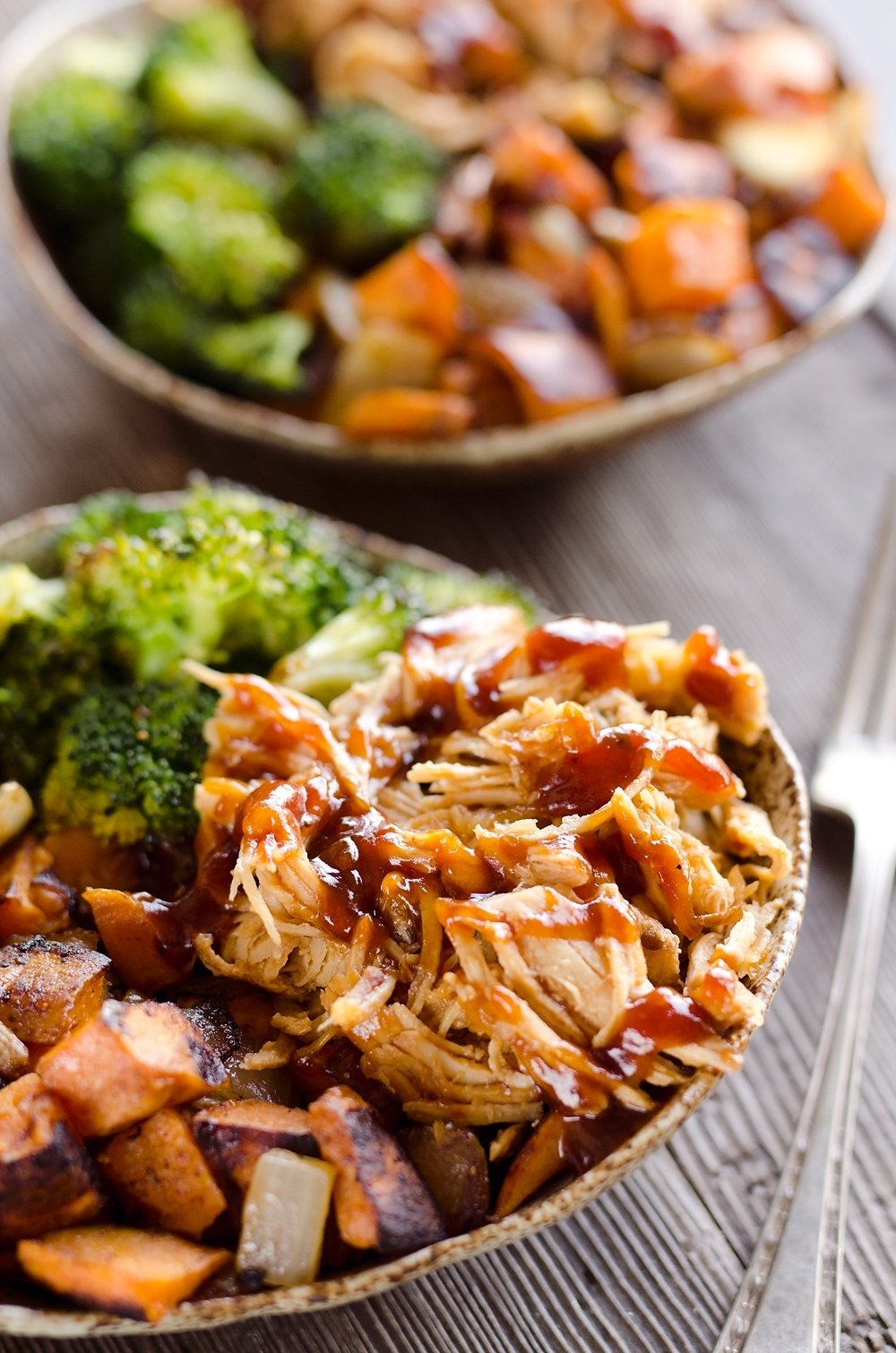 10 Attractive Healthy Dinner Ideas With Chicken bbq chicken roasted sweet potato bowls easy meal prep 1 2020