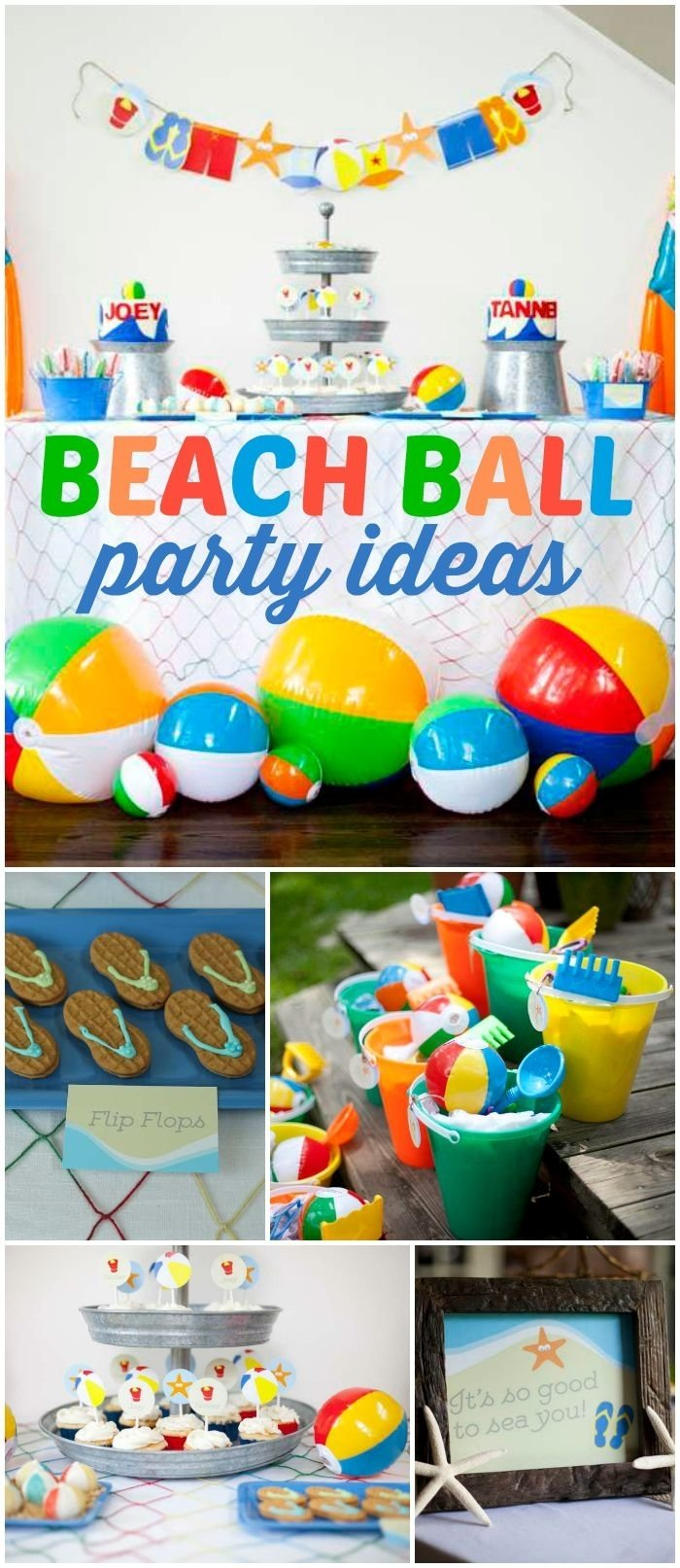 10 Nice Summer Party Ideas For Kids beach birthday its a beach bash 2nd birthday party for joey 1 2020