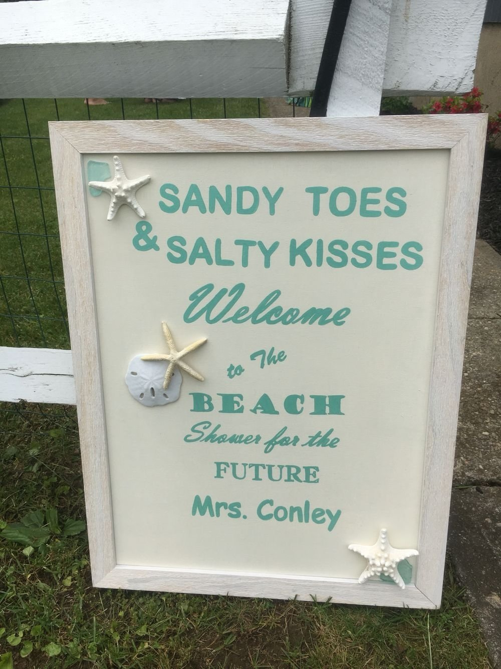 10 Most Popular Beach Themed Bridal Shower Ideas beach bridal shower welcome sign bridal shower welcome sign 2020