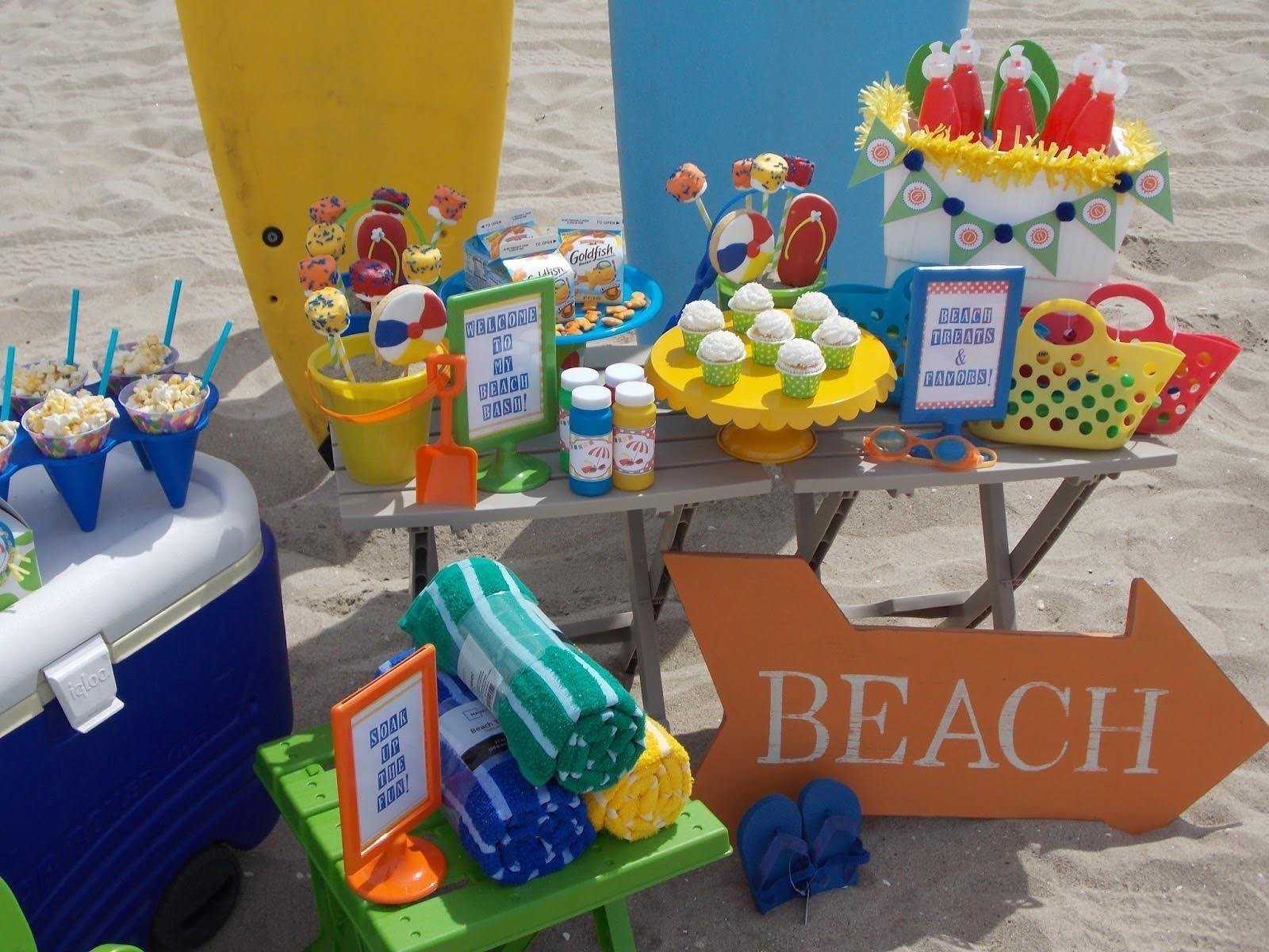 10 Fashionable Beach Themed Birthday Party Ideas Kid Home