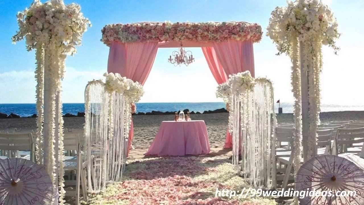 10 Wonderful Ideas For A Beach Wedding beach wedding ideas 99weddingideas youtube 2021