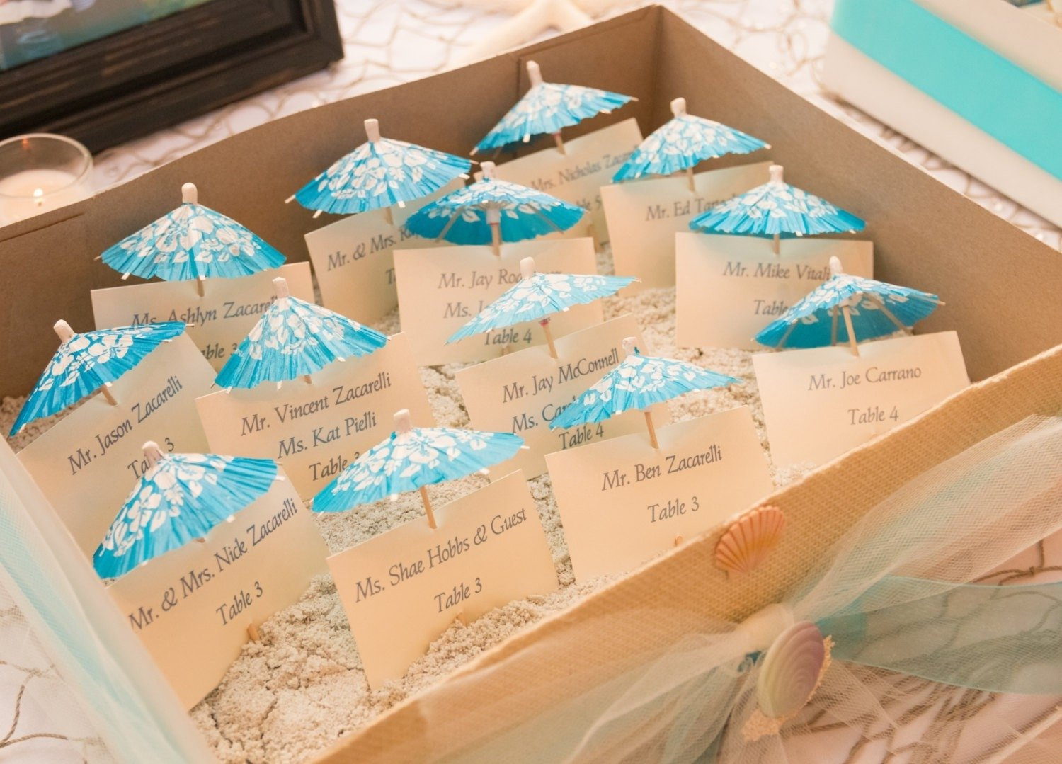10 Attractive Place Card Ideas For Wedding beach wedding place cards beautiful 20 wonderful escort and place 2020