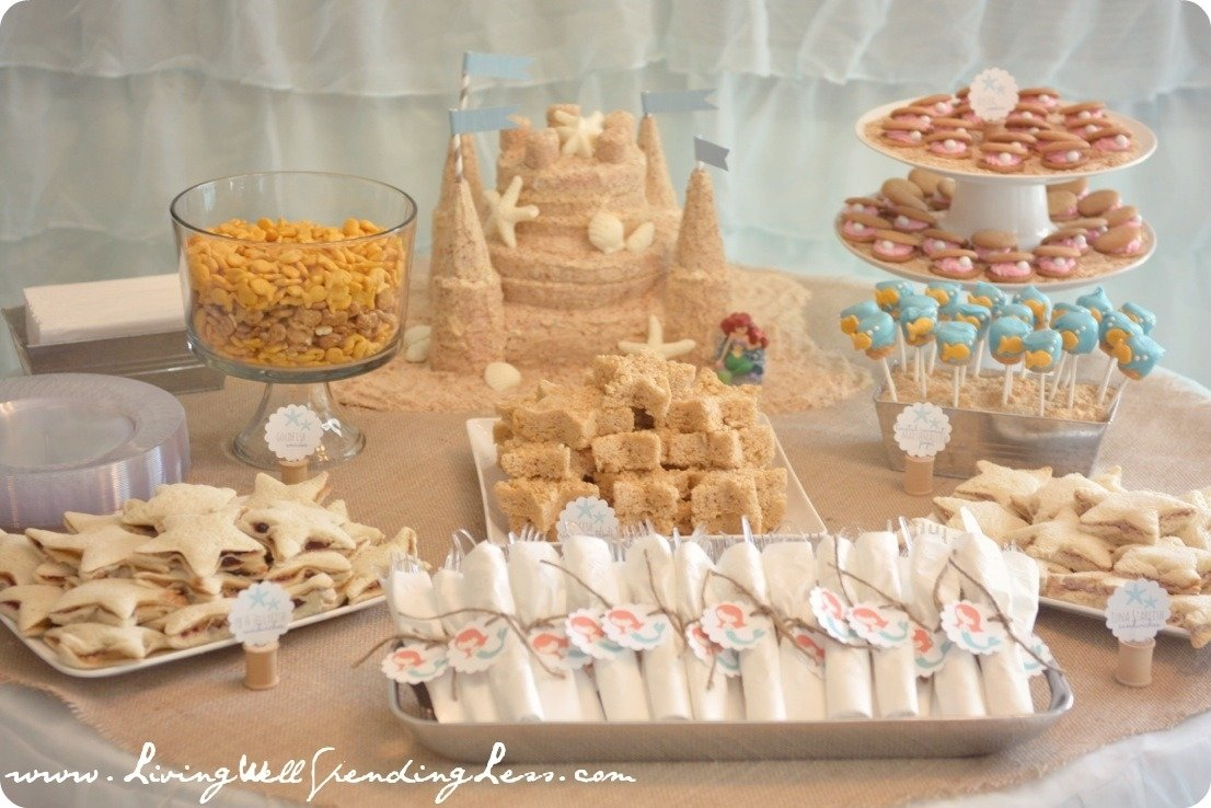 10 Stylish Birthday Party Food Ideas On A Budget beachy mermaid party darling beach and mermaid themed birthday party 2020