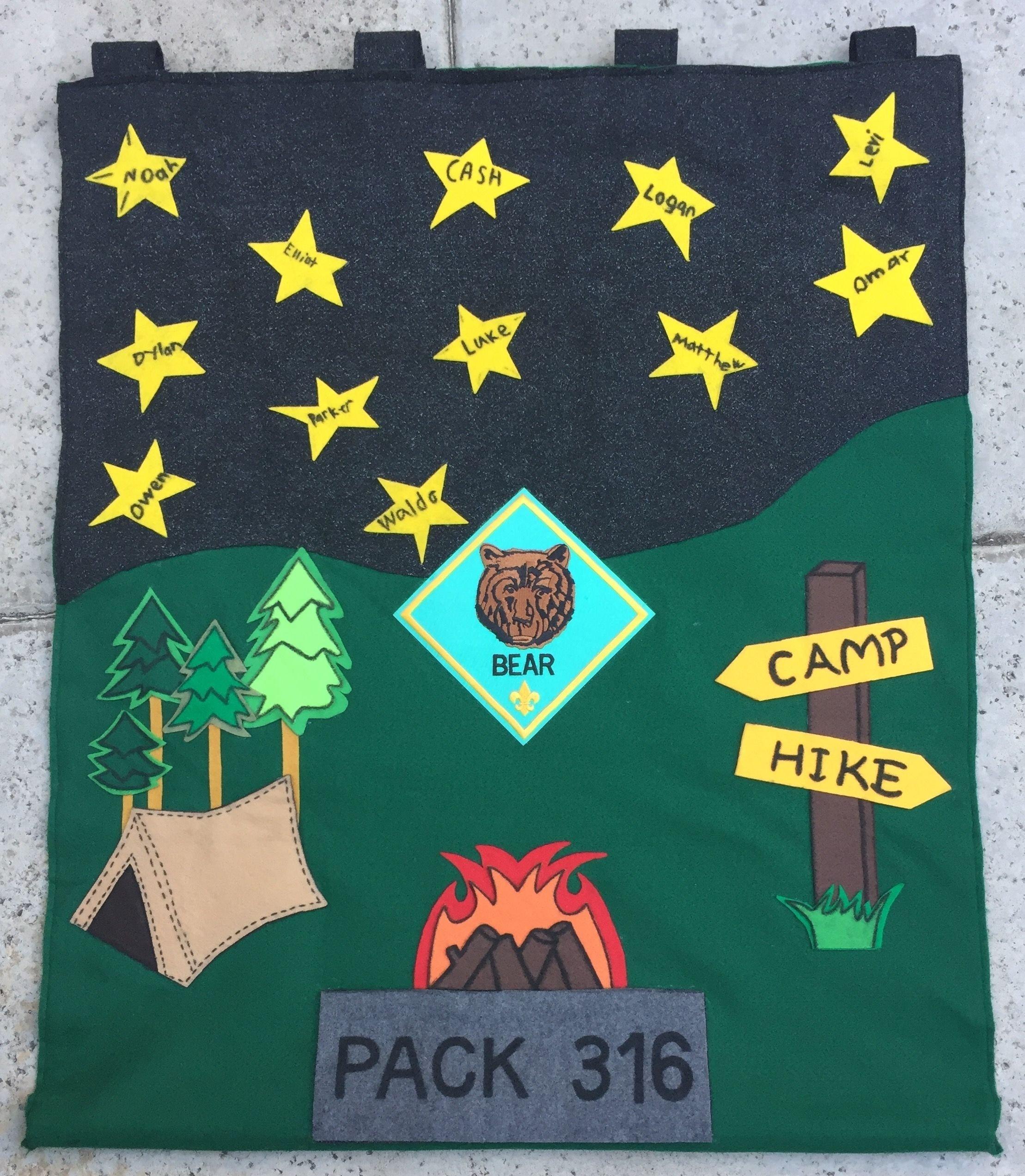 10 Pretty Cub Scout Den Flag Ideas bear den flag idea pack316 cccmpack316 teamsimmons proudscoutmom 2021