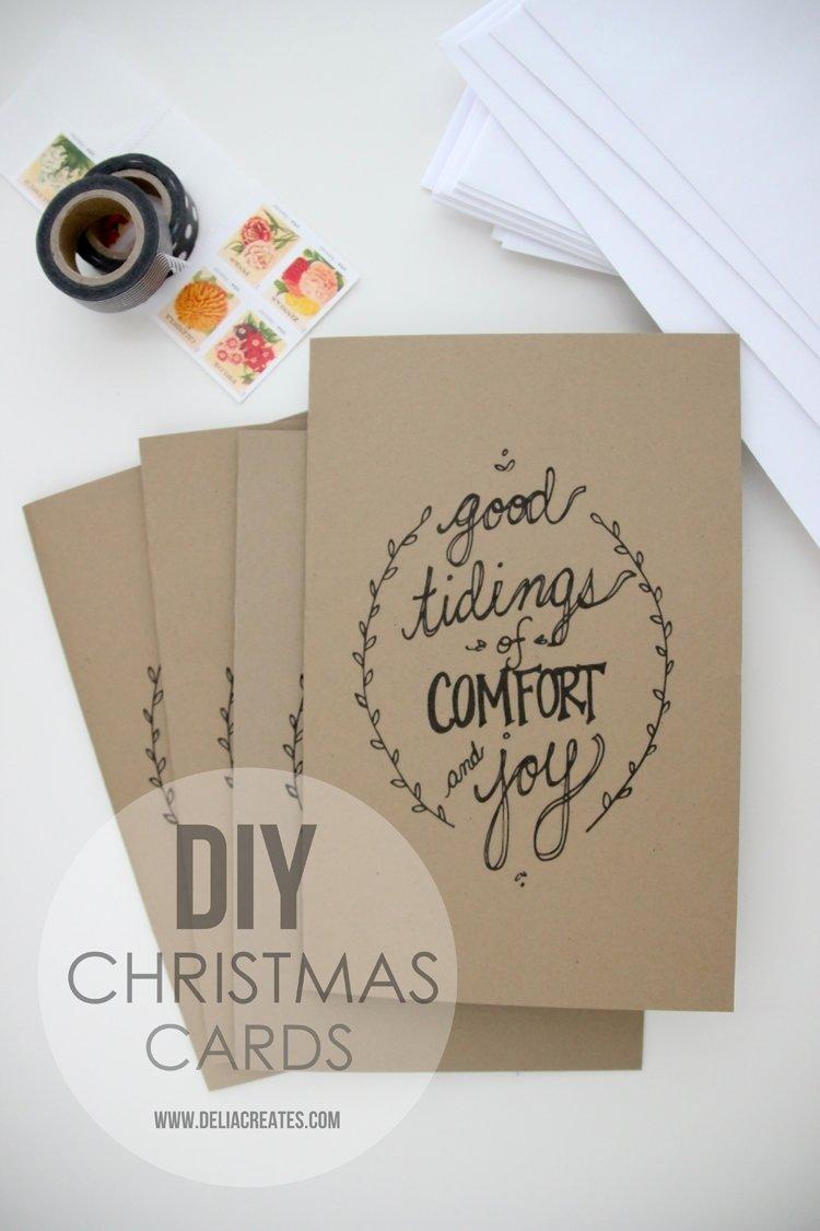 10 Pretty Ideas For Homemade Christmas Cards beautiful diy homemade christmas card ideas 2020