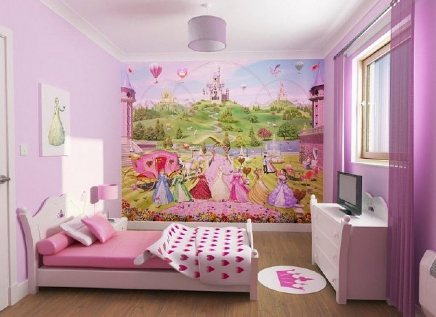 beautiful heart theme teen girls bedroom decorating ideas - decobizz