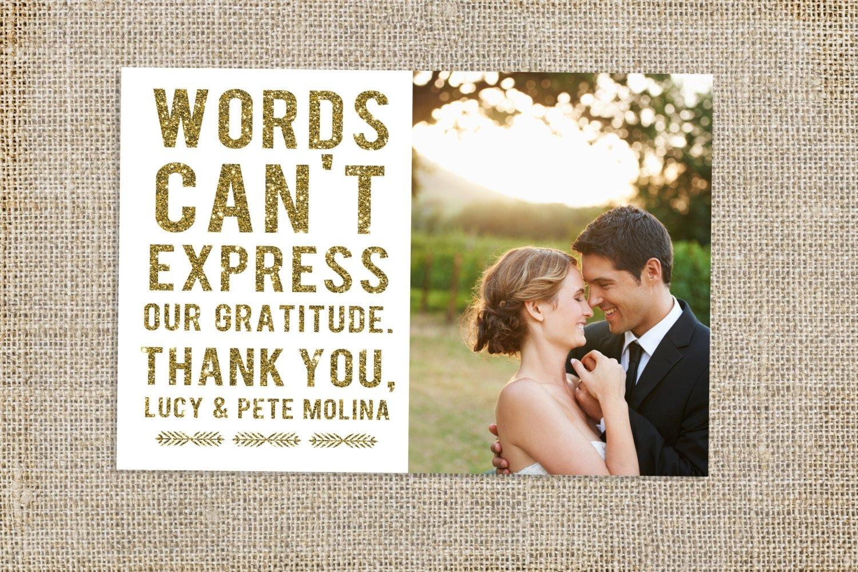 10 Lovely Wedding Thank You Card Ideas beautiful wedding thank you cards glitter wedding thank you card 2020