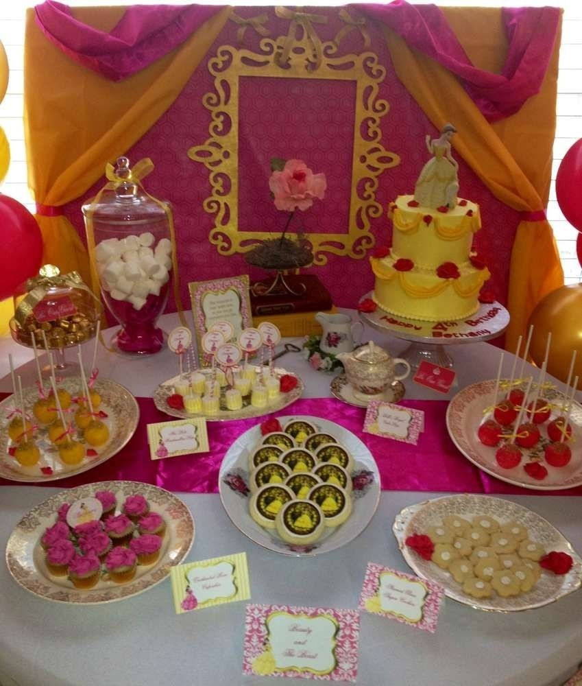 beauty and the beast birthday party ideas | birthday party ideas