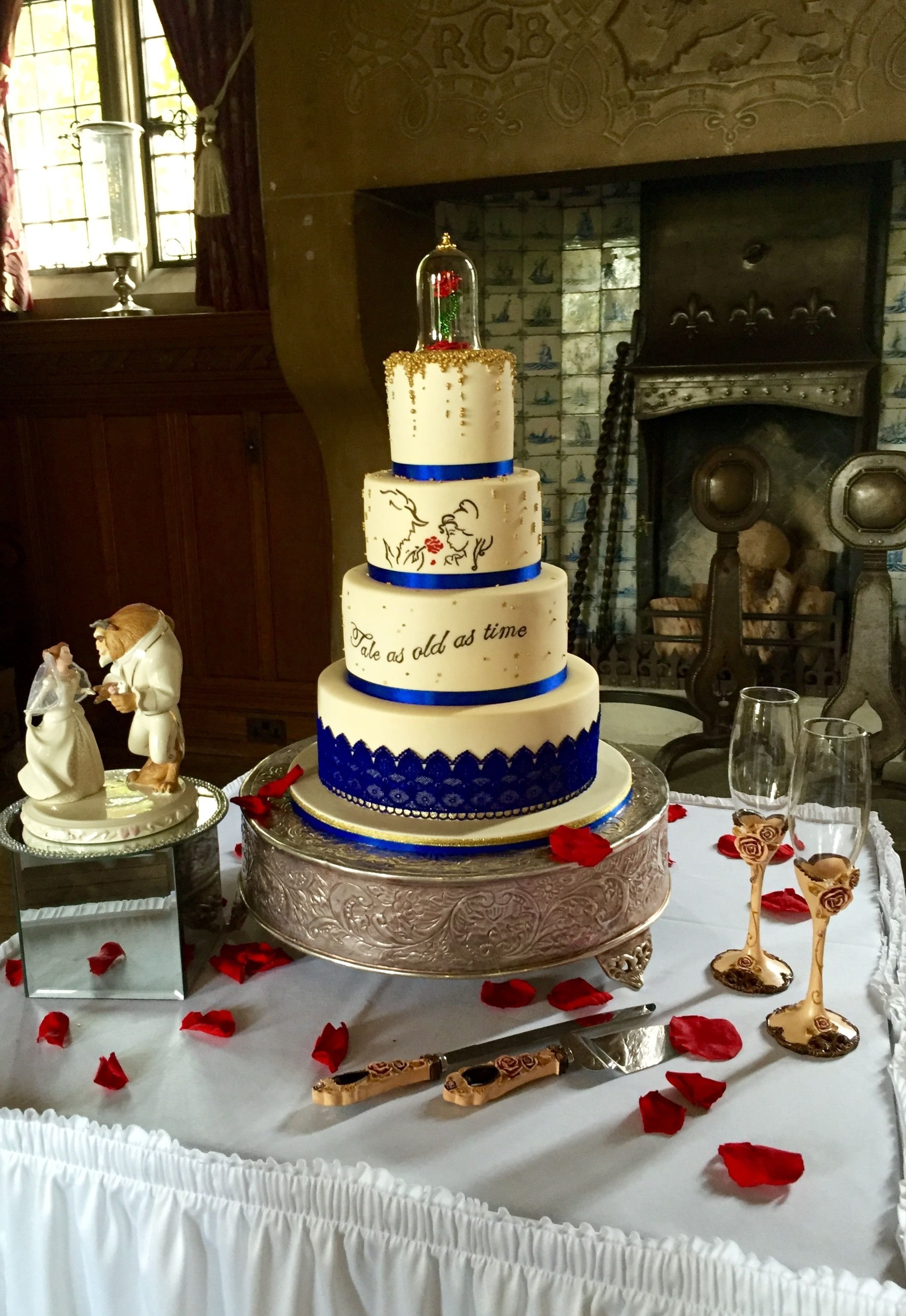 10 Gorgeous Beauty And The Beast Wedding Theme Ideas beauty and the beast wedding cake today for johnson and clark