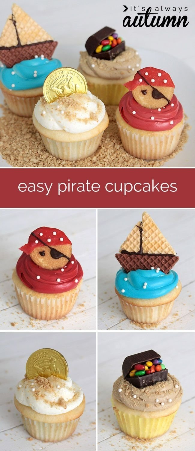 because pirates are awesome and fondant is yucky | pirate cupcake