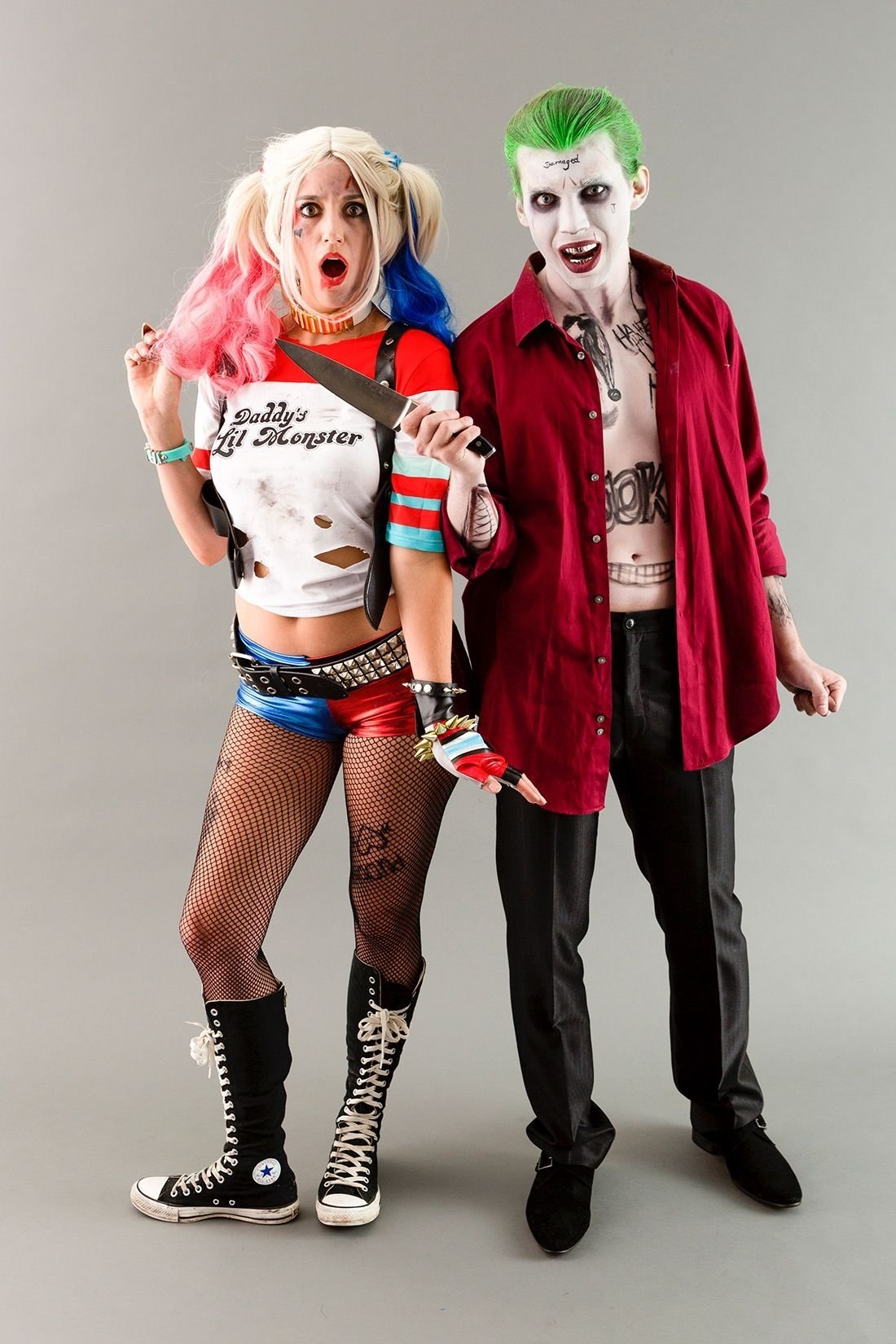 10 Stylish Good Costume Ideas For Couples become the joker harley quinn from suicide squad for halloween 2020