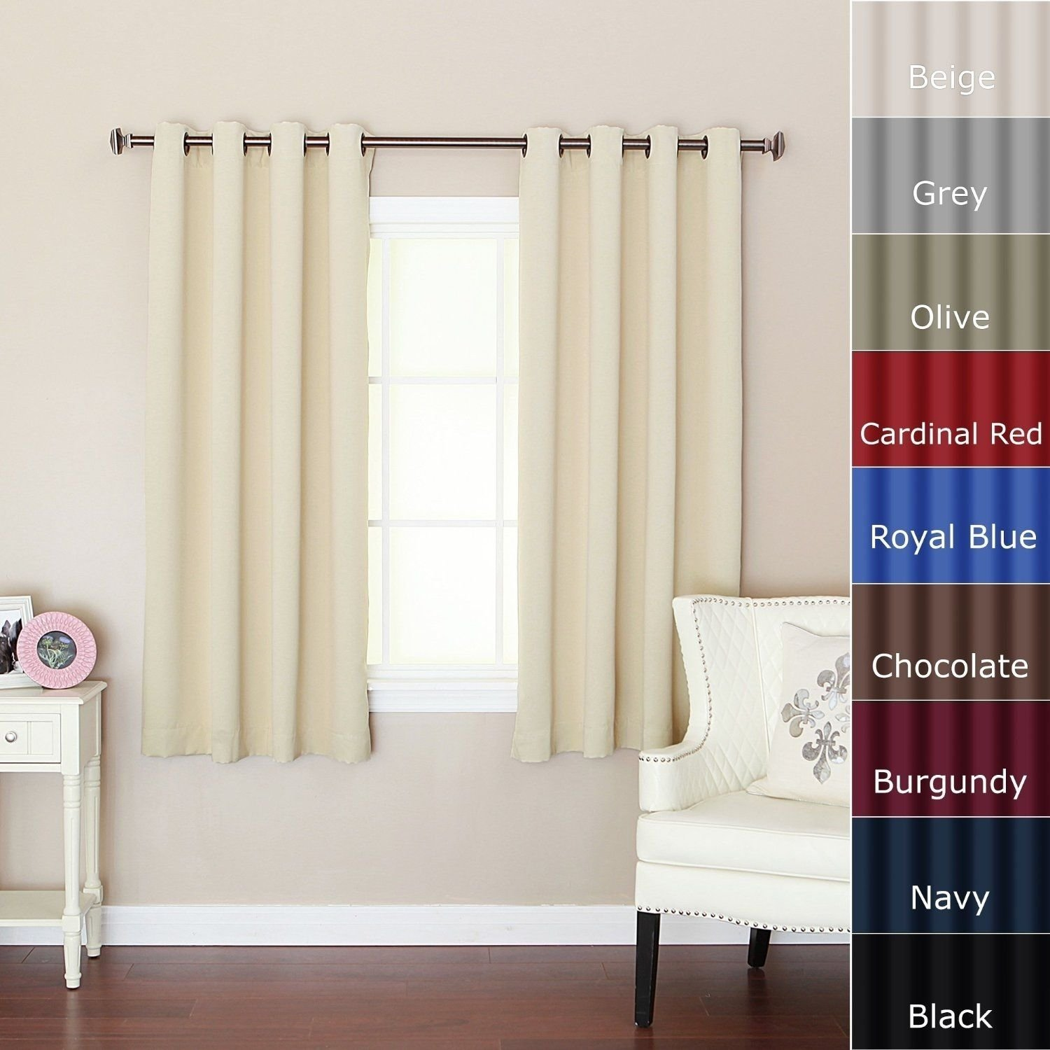 bedroom curtains for short windows | http://realtag | pinterest