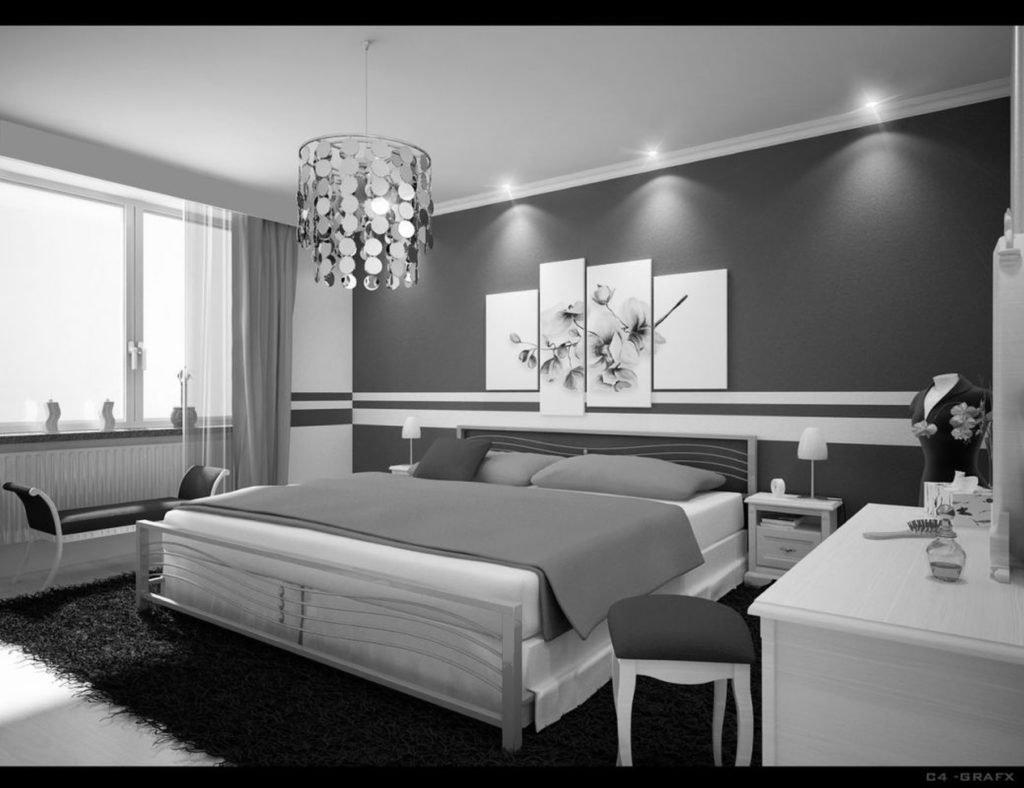bedroom design light grey black white gray teen walls wall