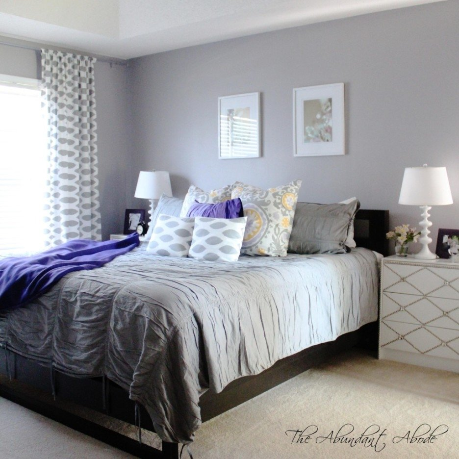 10 Lovely Gray And Purple Bedroom Ideas bedroom foxy white and grey bedroom design and decorating ideas