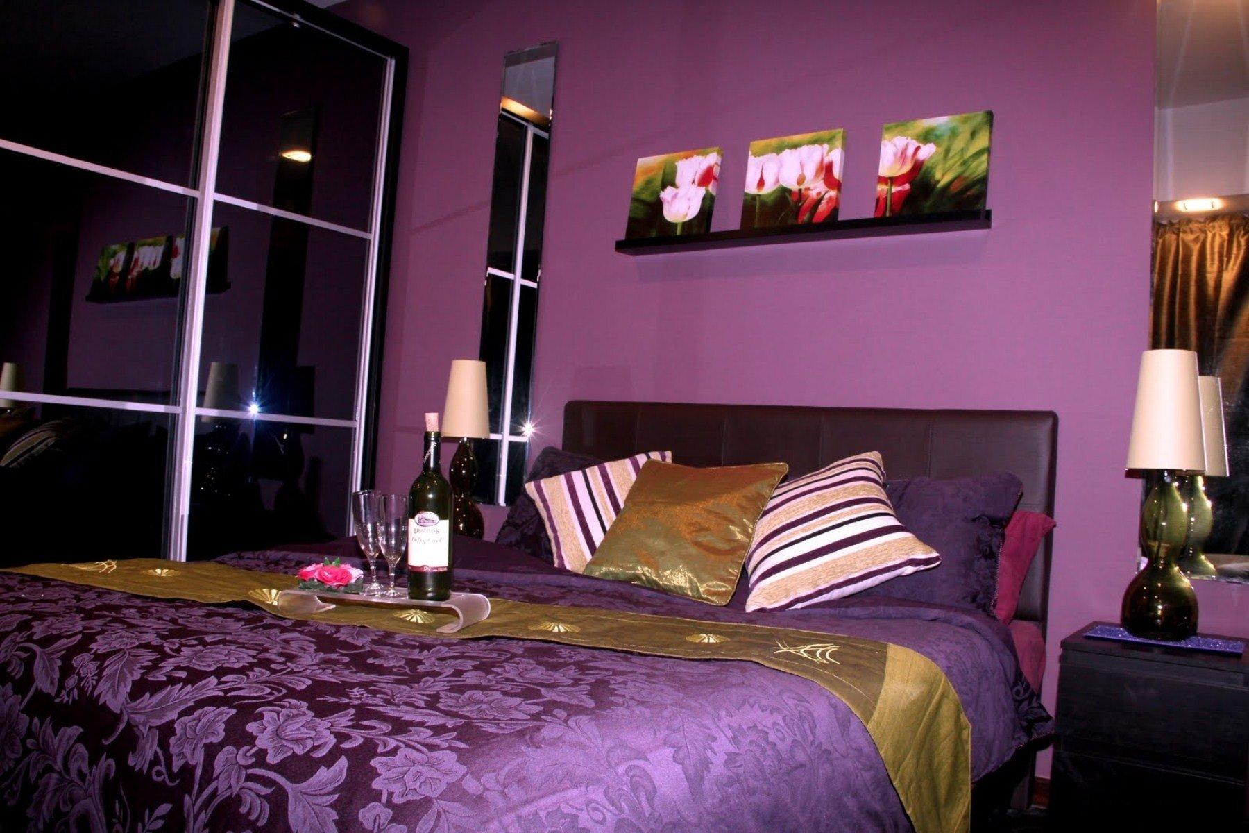 10 Fabulous Purple And Black Bedroom Ideas bedroom romantic purple bedroom ideas for valentine days with black