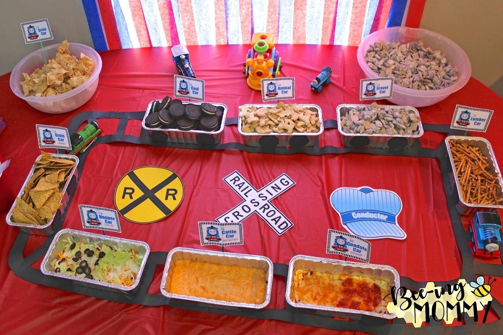 10 Fabulous Thomas The Train Party Food Ideas bee ing mommy blog thomas the train birthday party chugga chugga 1 2021