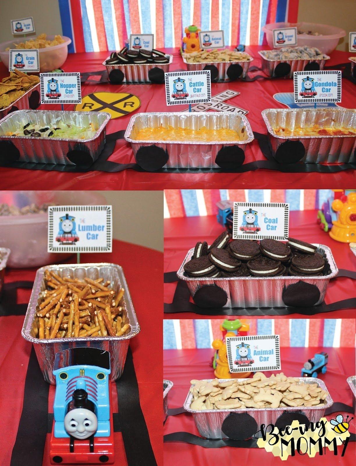 10 Fabulous Thomas The Train Party Food Ideas bee ing mommy blog thomas the train birthday party chugga chugga 2021
