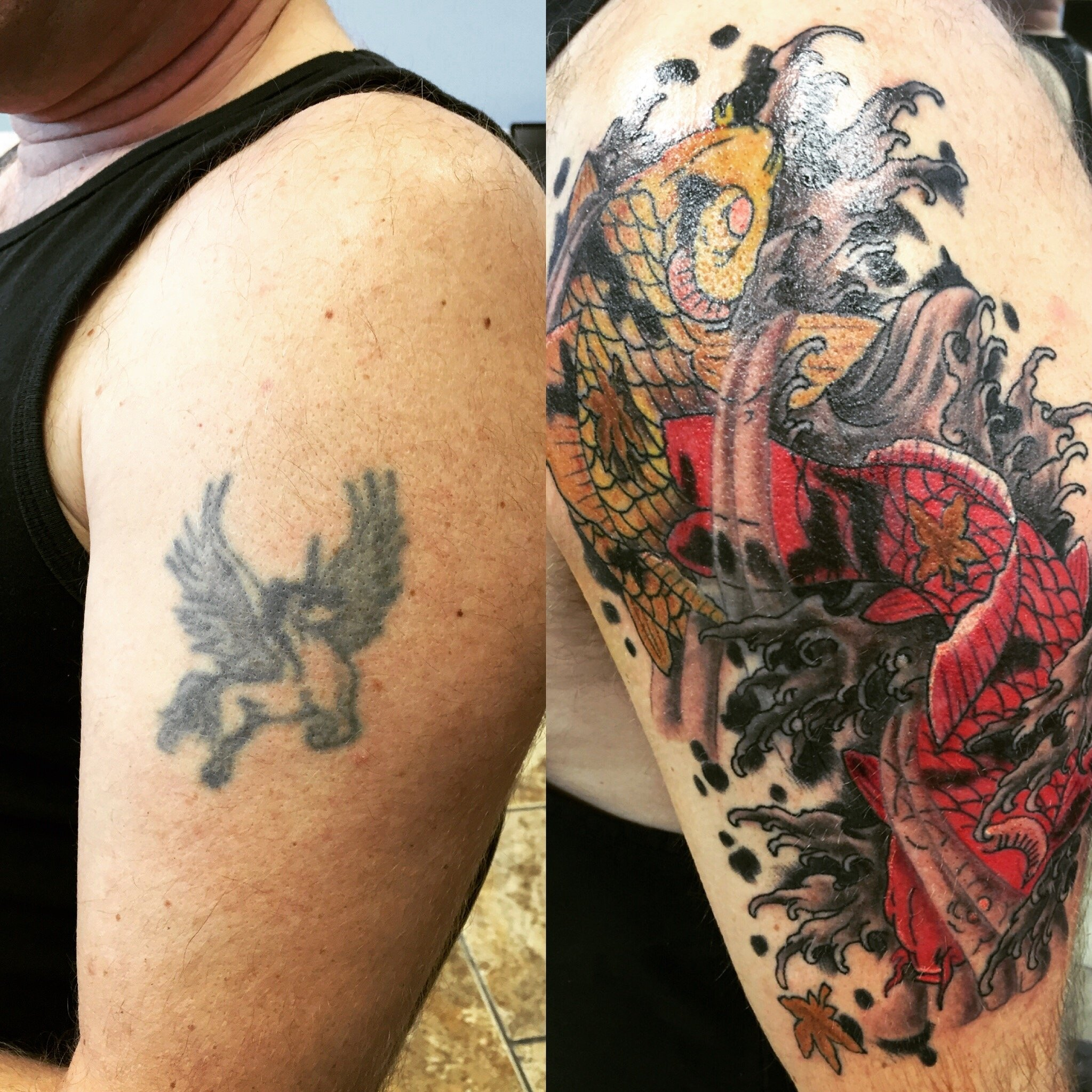 10 Unique Tattoo Cover Up Ideas For Work before and after covered up an old beat bad idea thanks to 2020