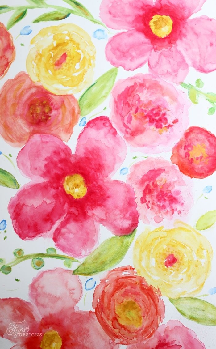10 Most Recommended Watercolor Painting Ideas For Beginners beginner floral watercolor painting fynes designs fynes designs