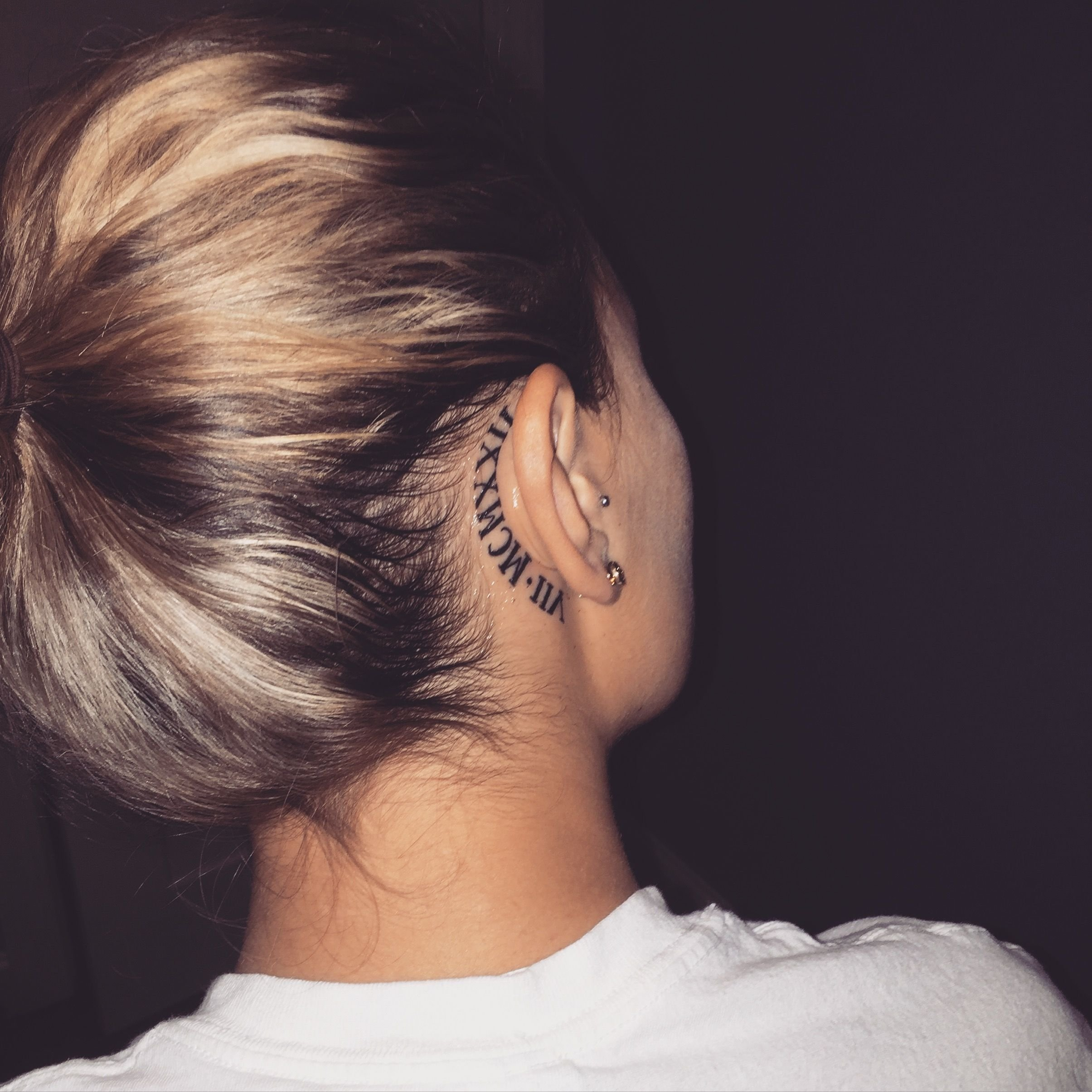 10 Perfect Behind The Ear Tattoo Ideas behind ear tattoos purple hearts pinterest tattoo tatting and 1 2020