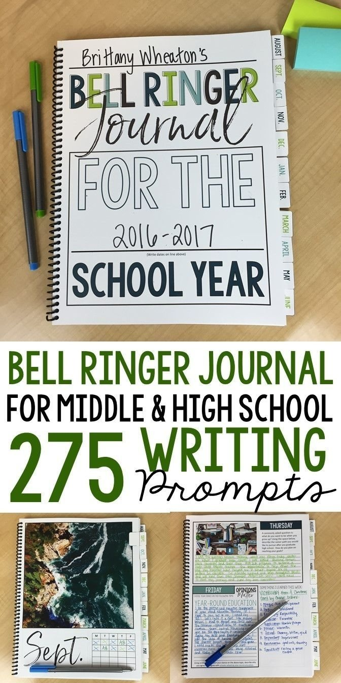 bell ringer journal for the entire school year: 275 journal prompts
