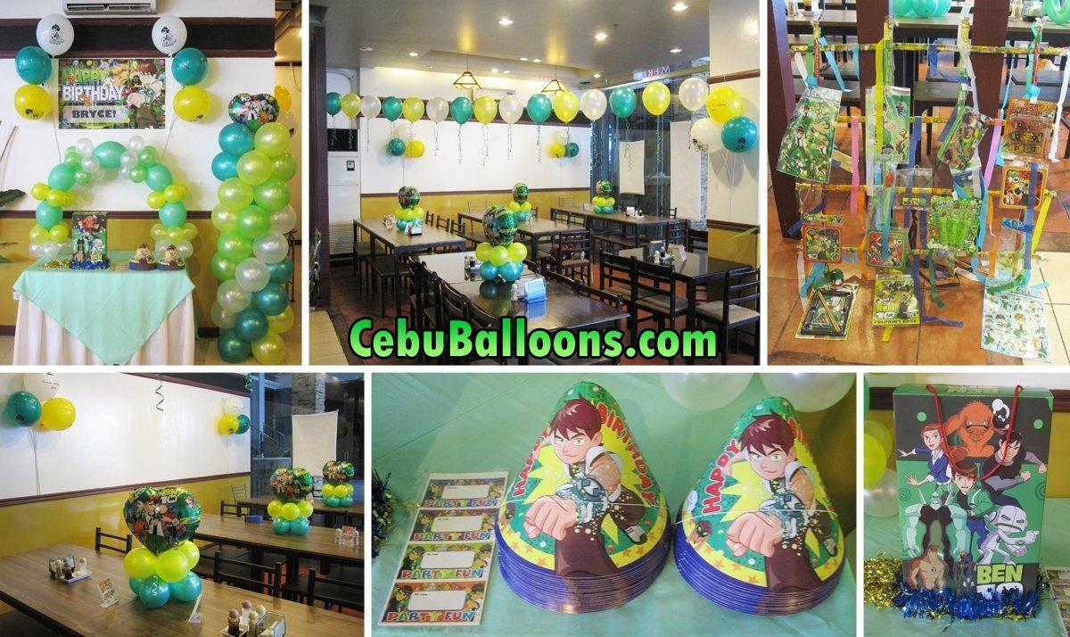 10 Trendy Ben 10 Birthday Party Ideas ben 10 balloon decoration party package at merillas restaurant