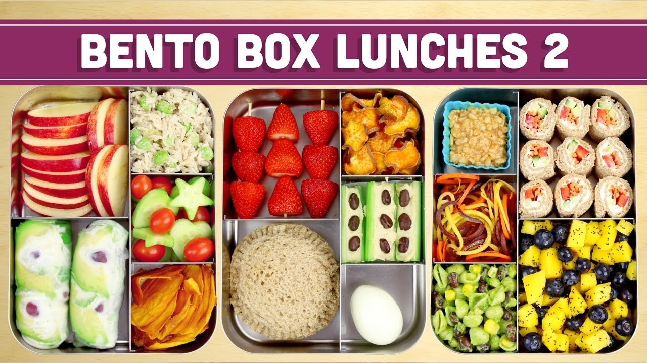 bento box lunches   healthy recipes! - mind over munch - youtube