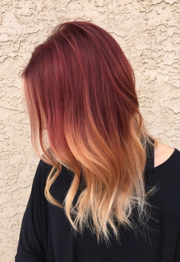 best 25+ red blonde ombre ideas on pinterest | red to blonde ombre