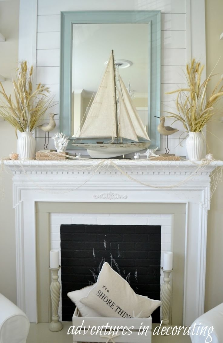 10 Spectacular Decorating Ideas For Fireplace Mantel best 25 summer mantle decor ideas on pinterest fireplace mantel 2020
