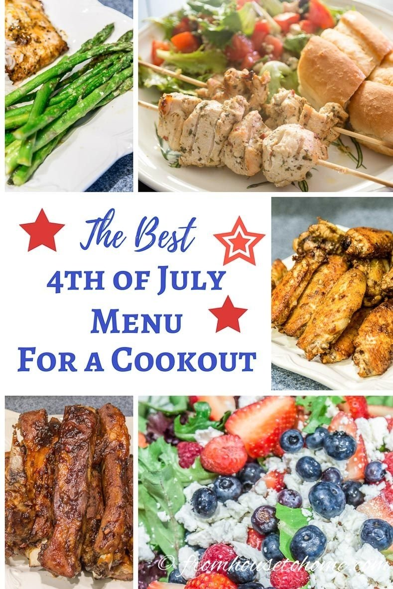 10 Unique 4Th Of July Cookout Ideas best 4th of july menu for a cookout cookout menu menu and crowd 1 2020