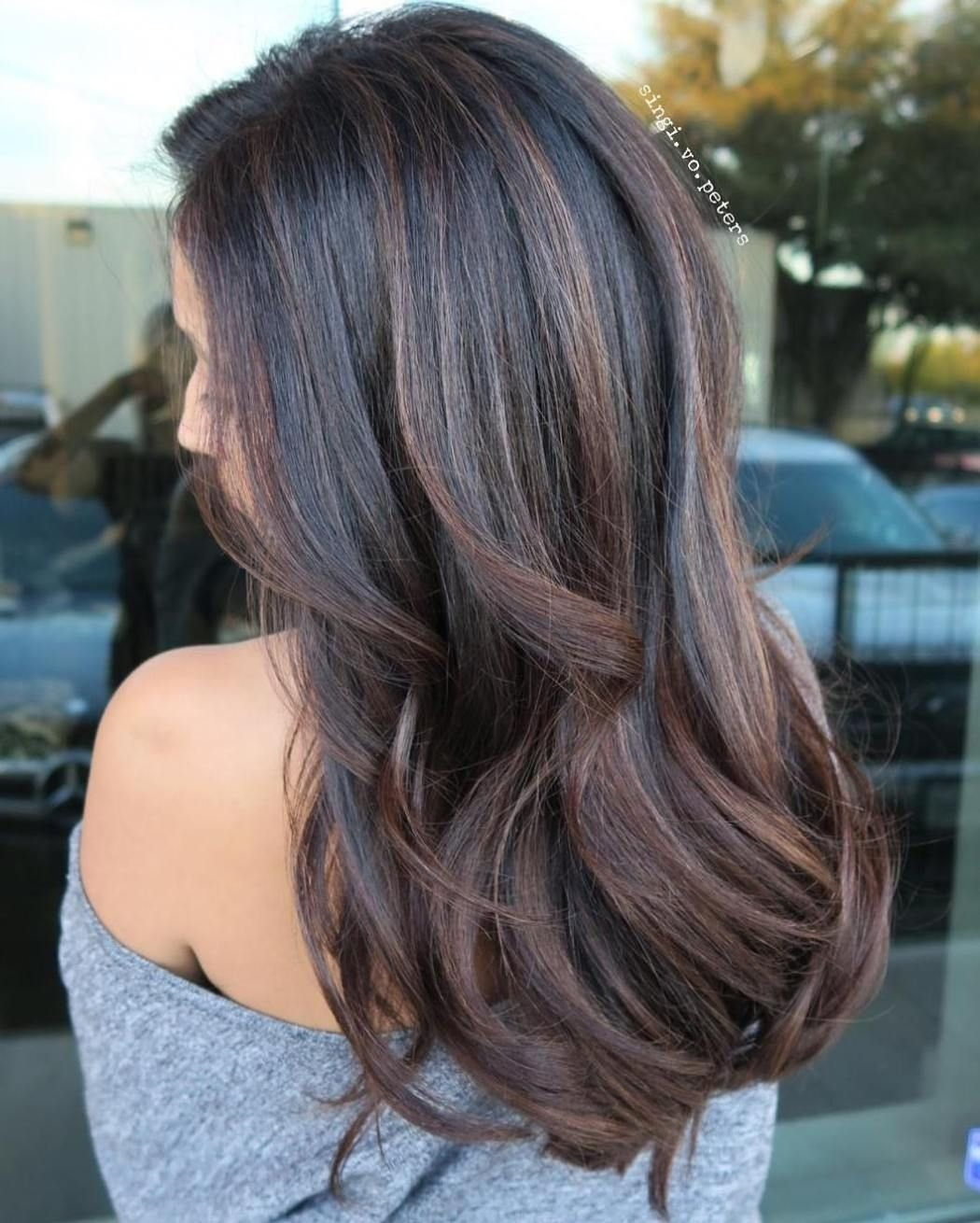 10 Awesome Hair Dye Ideas For Black Hair best balayage hair color ideas 70 flattering styles for 2018 11 2021