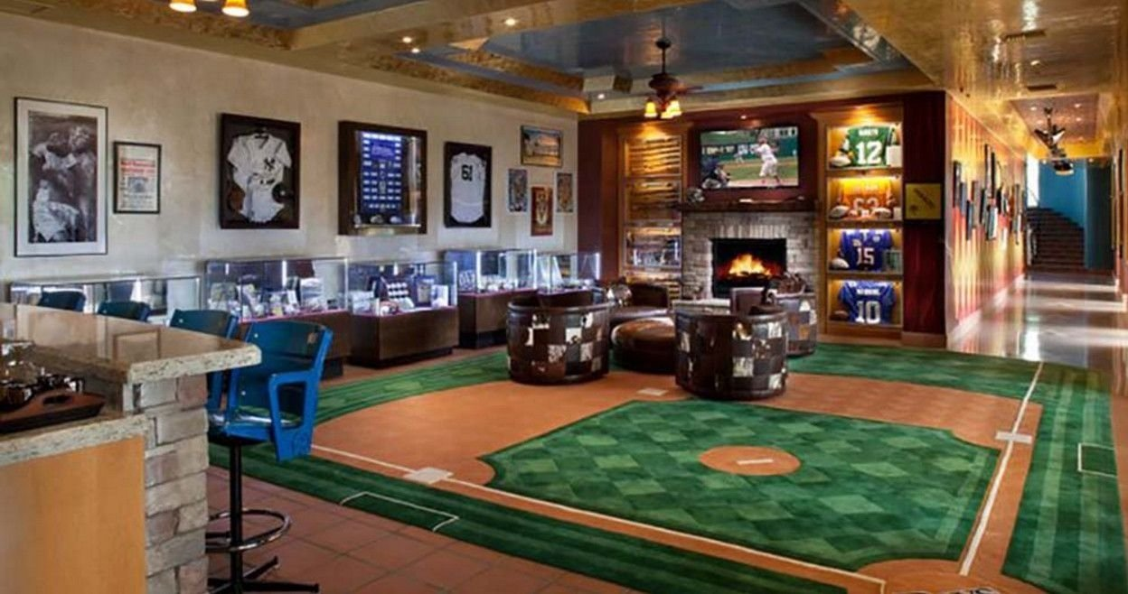 best baseball man caves | man cave | pinterest | baseball man caves