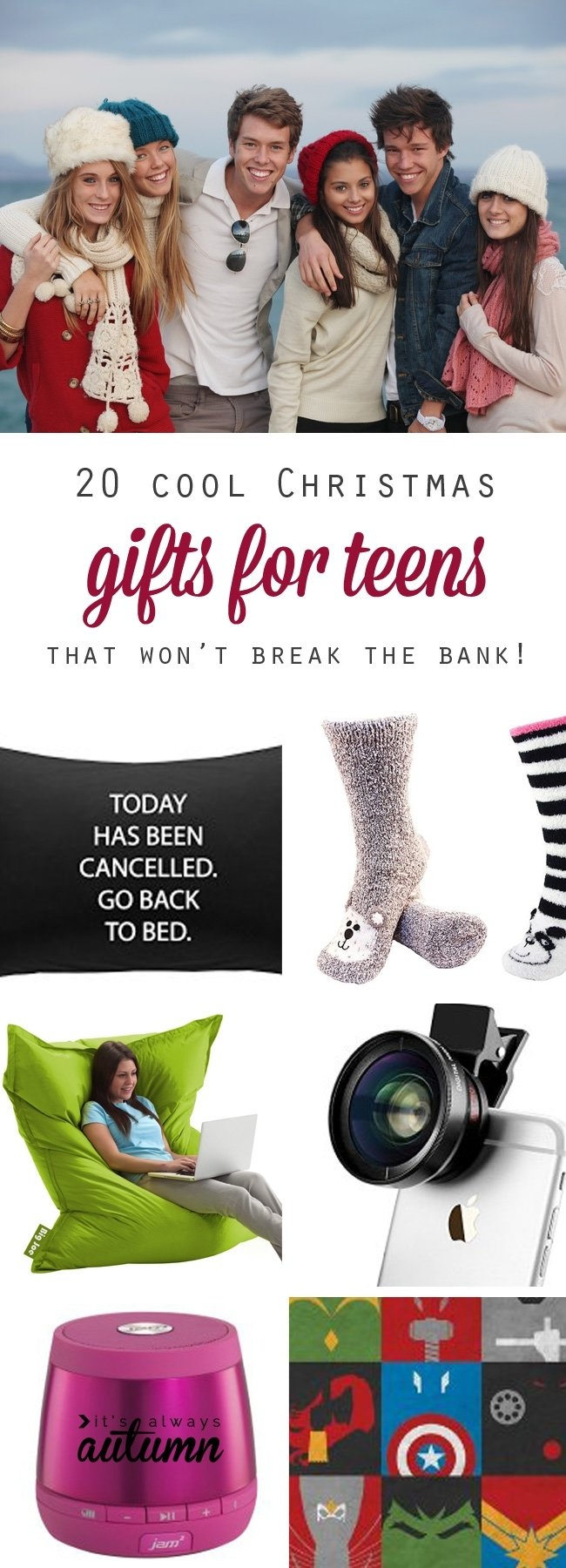 10 Fabulous Christmas Gift Ideas For Teenage Girls best christmas gift ideas for teens its always autumn 7