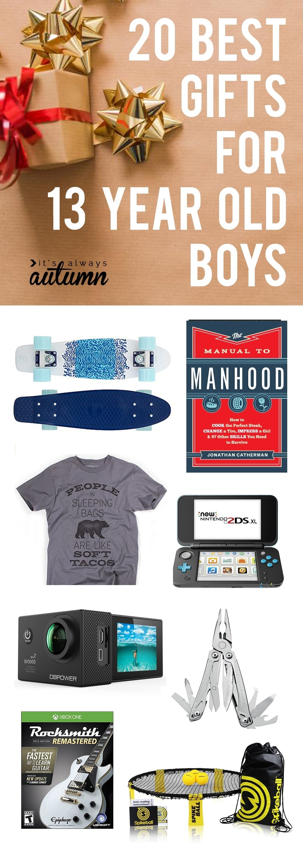 best christmas gifts for 13 year old boys - it's always autumn