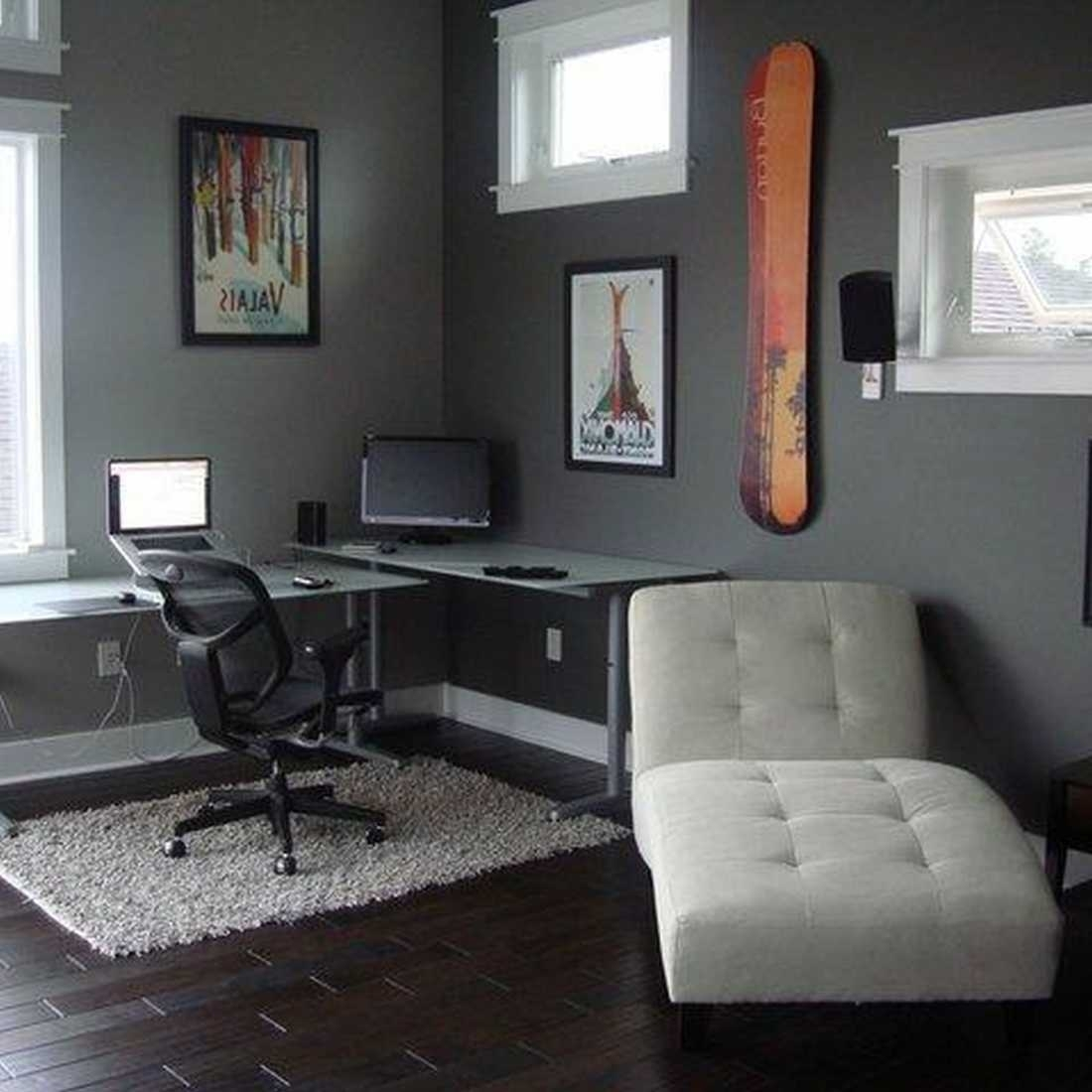 10 Nice Home Office Paint Color Ideas %name 2020