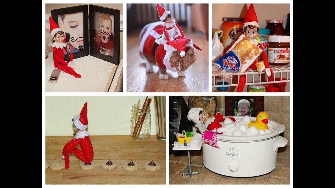 10 Cute Cool Ideas For Elf On The Shelf best elf on the shelf ideas youtube 10 2020