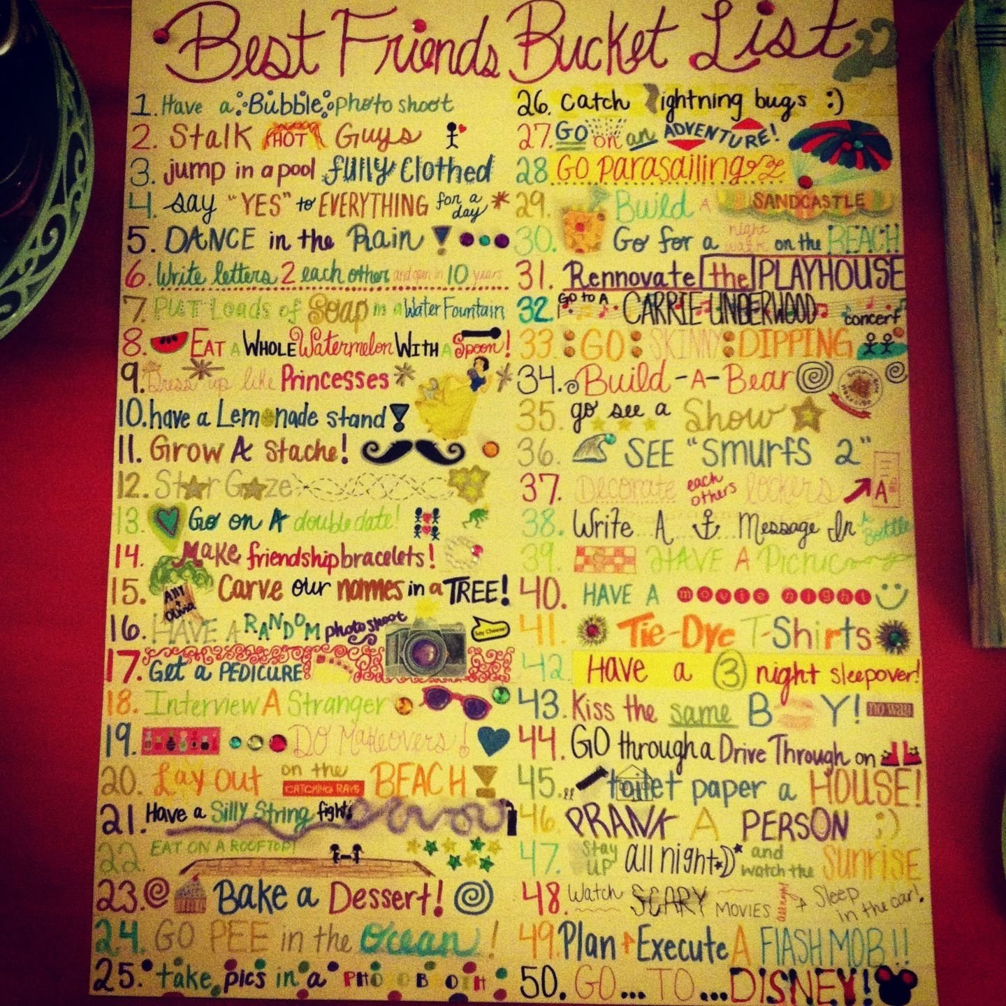 best friend bucket list. so fun!! | my bucket list | pinterest