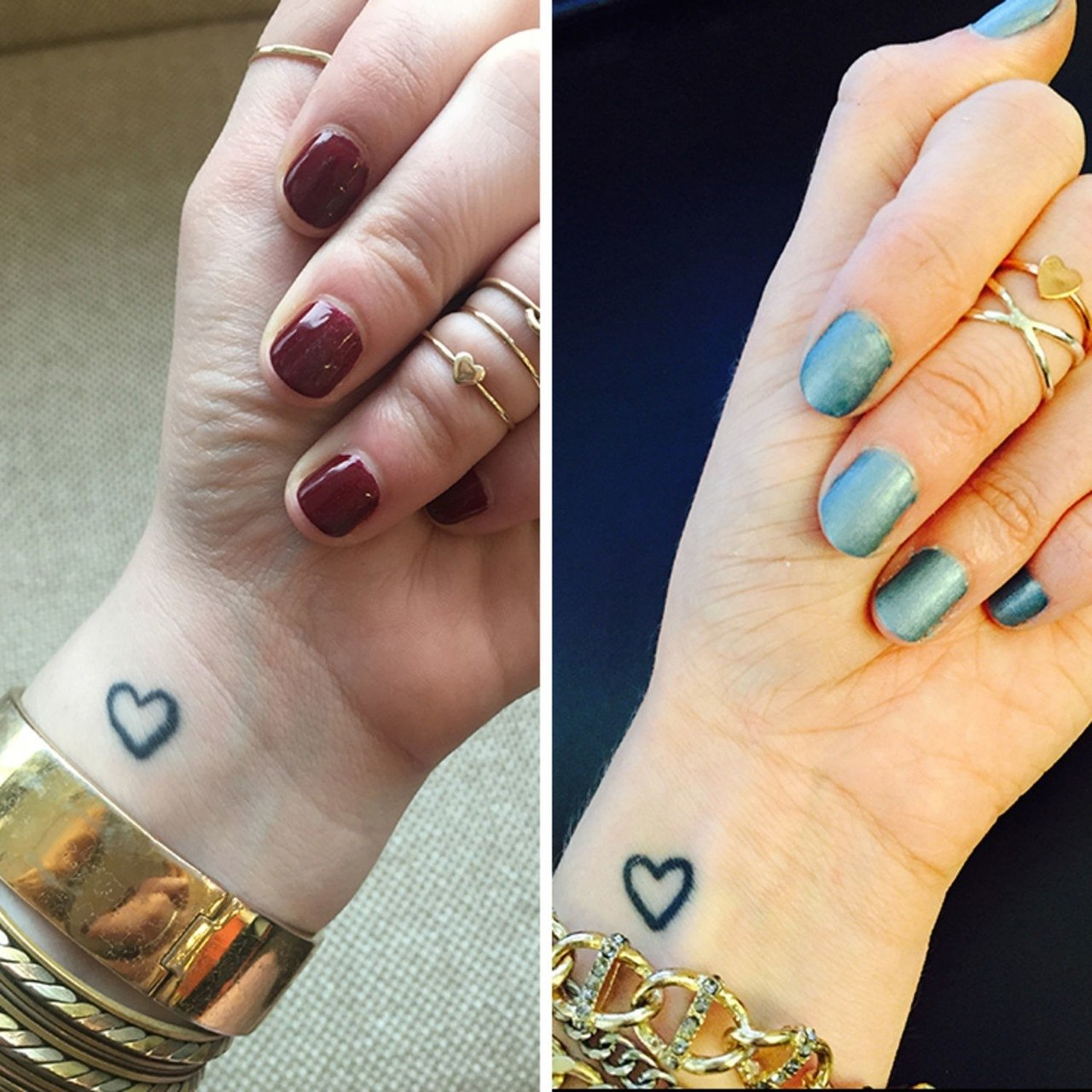 10 Great Matching Tattoo Ideas For Friends best friend tattoos what to consider when getting a tattoo glamour 1 2021