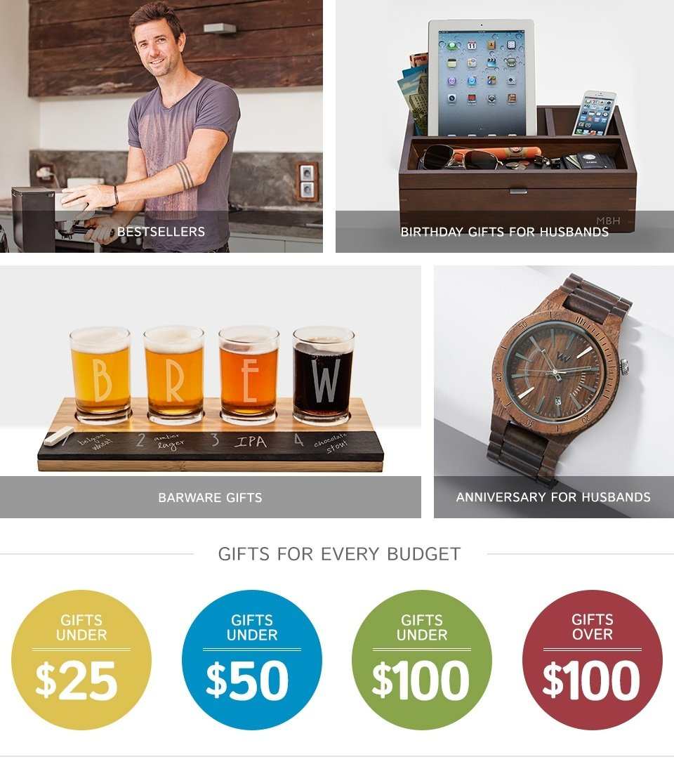 10 Attractive Gift Ideas For Your Husband Best Gifts Birthday Home Design