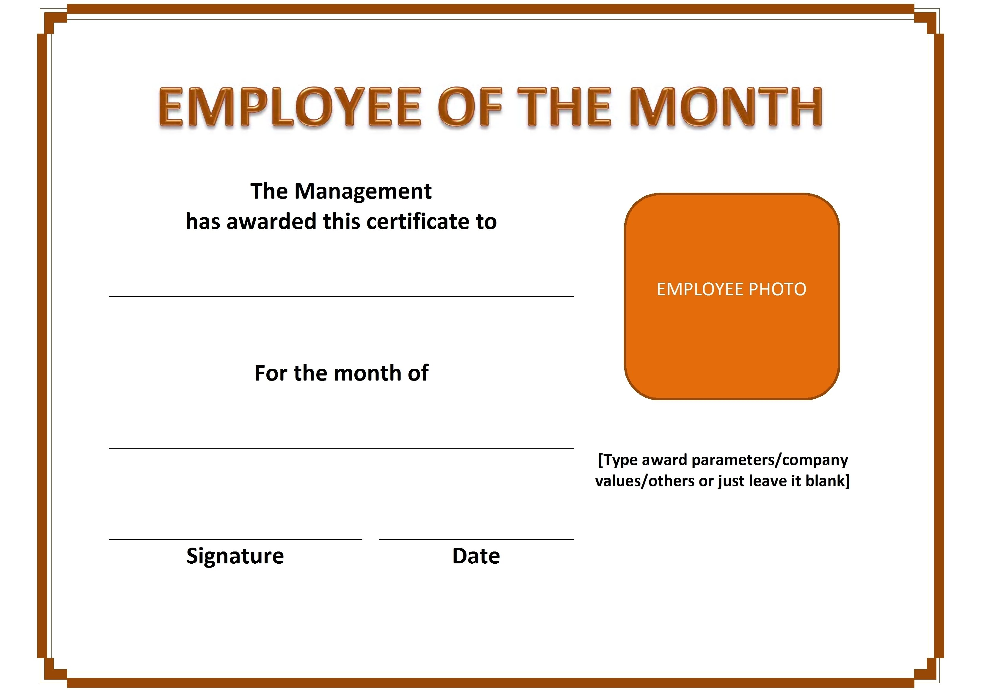 10 Awesome Employee Of The Month Ideas best ideas of employee of the month certificate free also employee