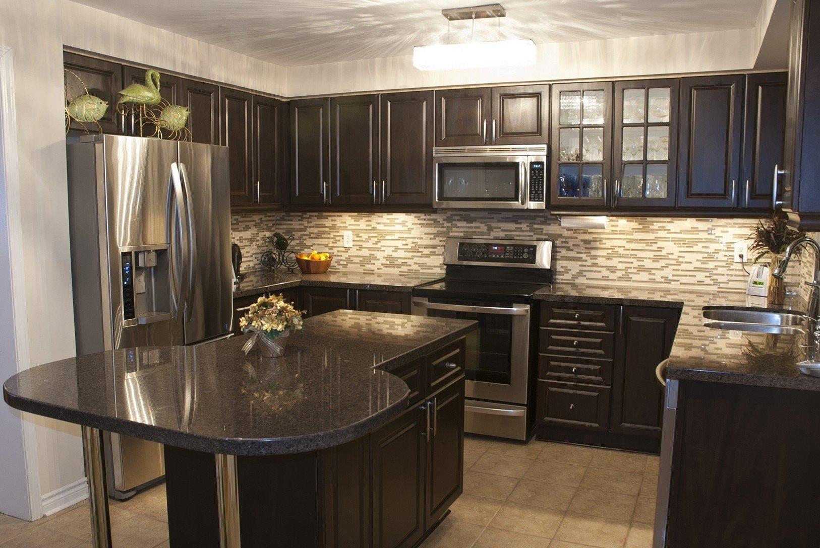 10 Pretty Kitchen Paint Ideas With Dark Cabinets best kitchen paint colors with dark cabinets 2020